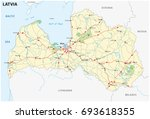 latvia road and national park...   Shutterstock .eps vector #693618355