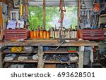 A Workbench In A Stereotypical...