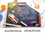 school accessories | Shutterstock . vector #693629104
