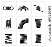 metal spiral flexible wire... | Shutterstock . vector #693630499