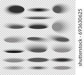 transparent oval bottom drop... | Shutterstock . vector #693630625