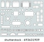 top view interior with line... | Shutterstock . vector #693631909