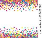 multicolored paper confetti on... | Shutterstock . vector #693632305