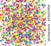 multicolored paper confetti on... | Shutterstock . vector #693633904