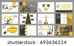 creative set of abstract... | Shutterstock .eps vector #693636214