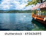lake bled  slovenia  europe.... | Shutterstock . vector #693636895