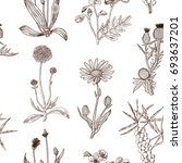seamless decorative pattern... | Shutterstock .eps vector #693637201