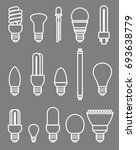 light bulbs set. vector | Shutterstock .eps vector #693638779