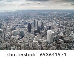 aerial view of city of london   ... | Shutterstock . vector #693641971