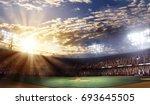 professional baseball arena... | Shutterstock . vector #693645505