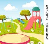 recreation children park with... | Shutterstock . vector #693649525