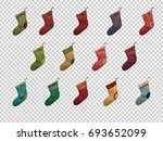 set of christmas socks | Shutterstock .eps vector #693652099