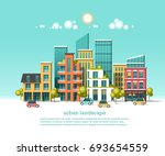 green energy and eco friendly... | Shutterstock .eps vector #693654559