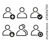 people vector icons set. black... | Shutterstock .eps vector #693656704