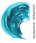 sea wave. abstract watercolor... | Shutterstock . vector #693662137