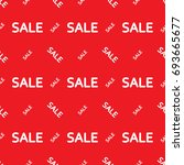 sale discount pattern red and... | Shutterstock .eps vector #693665677