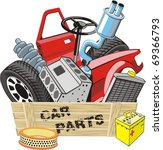 box with different car detail   Shutterstock .eps vector #69366793
