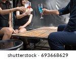cheers. group of people