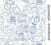 seamless background of... | Shutterstock . vector #693669205