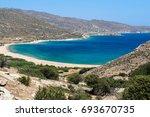 kalamos beach in ios    Shutterstock . vector #693670735