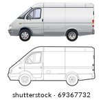 detailed vector cargo minibus... | Shutterstock .eps vector #69367732