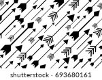 black arrows bg | Shutterstock .eps vector #693680161