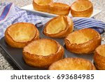 warm and freshly baked... | Shutterstock . vector #693684985