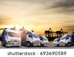 logistics and transportation... | Shutterstock . vector #693690589