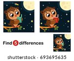 find 5 differences education... | Shutterstock .eps vector #693695635