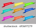 banners and labels collection. | Shutterstock .eps vector #693697279