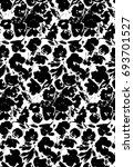 bold graphic floral silhouette repeat pattern wallpaper background print