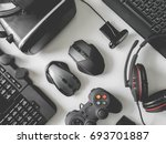 top view of gaming gear  gamer... | Shutterstock . vector #693701887