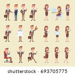 man and female business people... | Shutterstock .eps vector #693705775