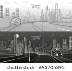 infrastructure transportation... | Shutterstock .eps vector #693705895