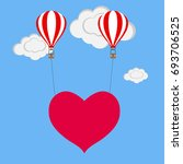 balloon with heart. two... | Shutterstock .eps vector #693706525