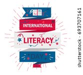 international literacy day... | Shutterstock .eps vector #693707161