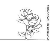 beautiful flowers roses.... | Shutterstock .eps vector #693709081