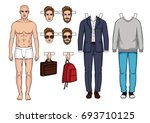 fashionable modern set of... | Shutterstock .eps vector #693710125