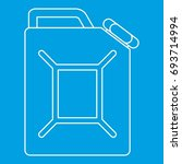 jerrycan icon blue outline... | Shutterstock .eps vector #693714994