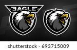 head of the eagle  sport logo....   Shutterstock .eps vector #693715009