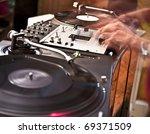 disk jockey in motion | Shutterstock . vector #69371509