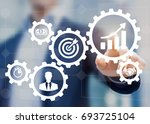 business process management and ... | Shutterstock . vector #693725104