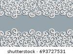 floral swirls decoration.... | Shutterstock . vector #693727531