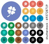four leaf clover multi colored... | Shutterstock .eps vector #693728719