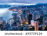 Hong Kong City View From The...