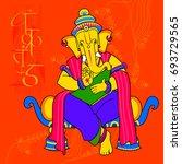 vector illustration of lord... | Shutterstock .eps vector #693729565