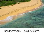 sand beach with the sea at le... | Shutterstock . vector #693729595