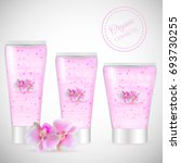 realistic packaging body scrub... | Shutterstock .eps vector #693730255