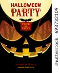 halloween party poster a4.... | Shutterstock .eps vector #693732109