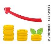 coins stack  coins money. money ... | Shutterstock .eps vector #693734551